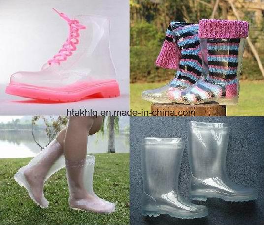 Le GAO Bottes de pluie transparent de qualité, Bottes de pluie en PVC transparent, style populaire de la pluie Boot, 100% transparent Bottes pour