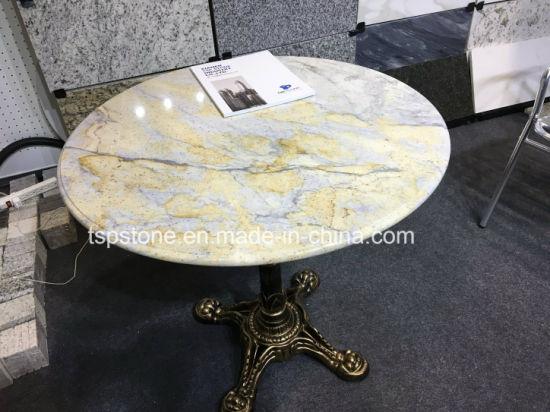 Pierre de Marbre Granit/café et le dîner Table ronde de haut pour  l\'hôtel/meubles de jardin