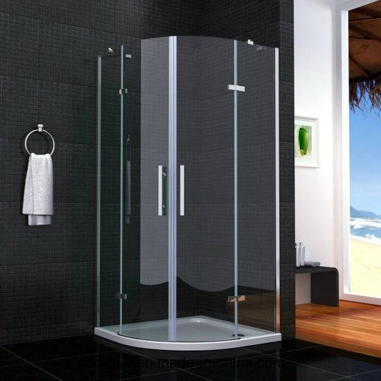 Ausgeglichenes  Glas-Schiebetür-Aluminiumprofil-Badezimmer-Dusche-Glaspartition