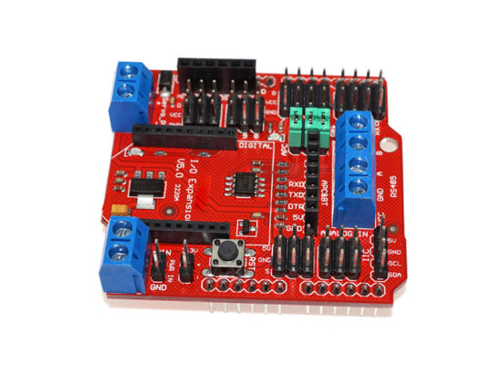 Arduino V5 Blindagem do Sensor Xbee RS485 APC220 I/O Módulo de cartão SD  Bluetooth