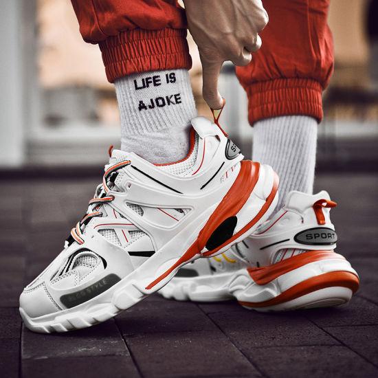 Orginal Mens Fashion Sneakers Chaussures, concepteur de la marque de luxe, dernier talon Sneakers Chunky Sneaker Chaussures hommes