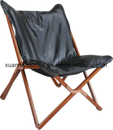 Chine Chaise pliante en bois Bois extérieur toile chaise de