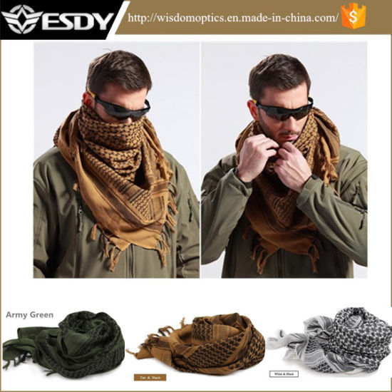 la mejor actitud 48553 b539a Shemagh Windproof militar árabe del desierto de algodón Hijabs táctico  pañuelo árabe