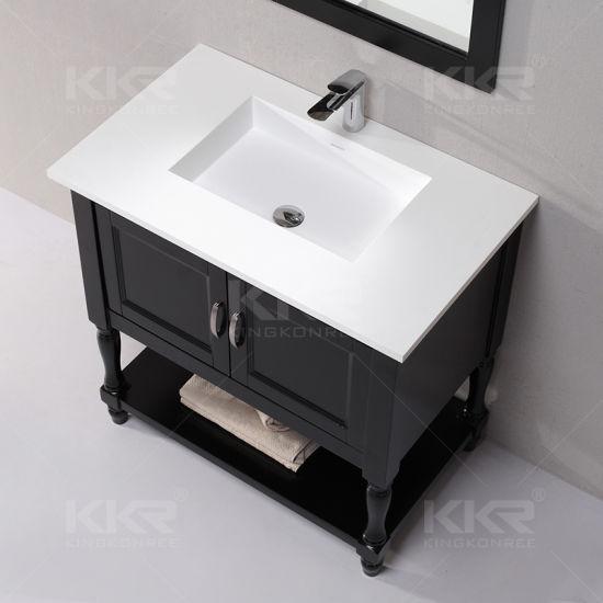 Lavabo di superficie solido del doppio della stanza da bagno della resina  di pietra di marmo
