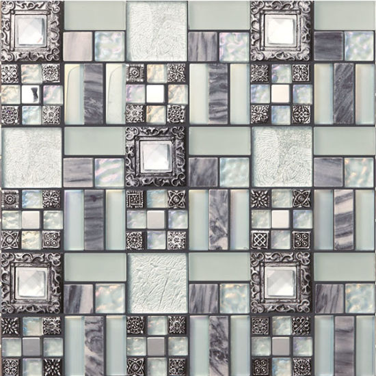 Cina Mattonelle Di Mosaico Di Ceramica Per Le Pareti Della Cucina Del Ristorante Acquistare Mattonelle Di Mosaico Metalliche Sopra It Made In China Com