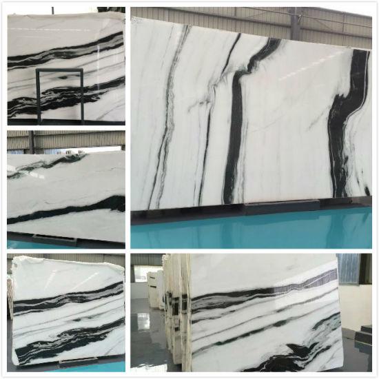 Dessins Et Modèles Dintérieur Moderne Panda Polies Carreaux De Sol En Marbre Blanc Mur