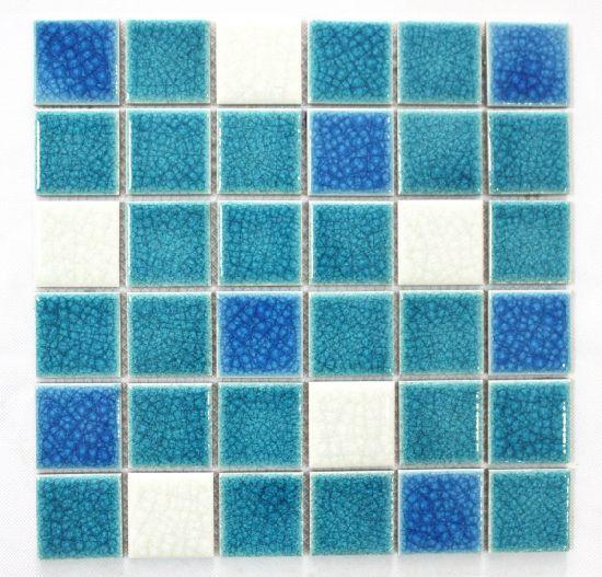 Chine Fissure De La Glace Double Deck Anti Skid Mosaique Bleu Vert