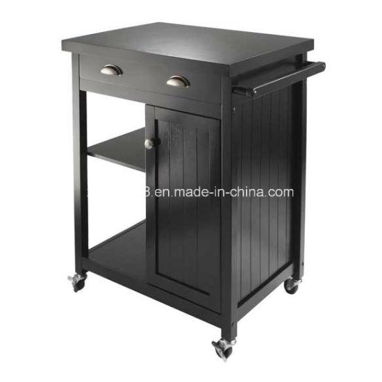 China Cocina de madera armario Buffet Cesta Carro de la ...
