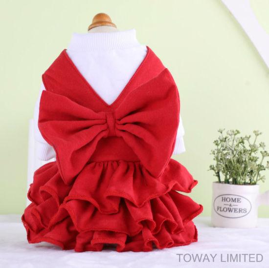 China Royal Pet Navidad Vestido Rojo Bowtie Faldas Clothings