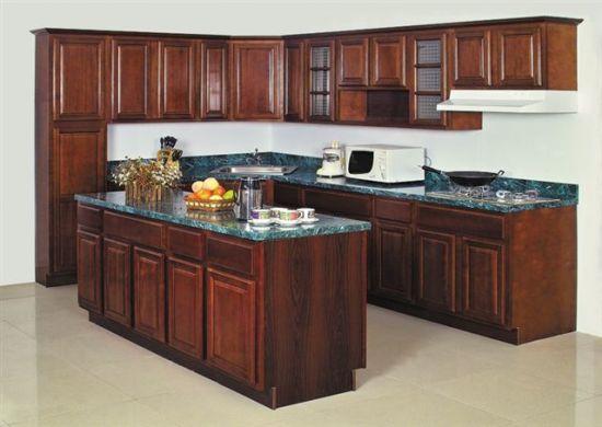 China De Madera Sólida mueble de cocina americana (abedul ...