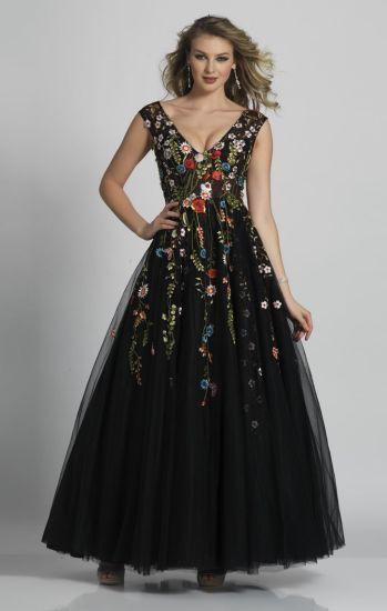 save off 9a360 51daa Vestiti da sera lunghi variopinti floreali neri Sleeveless di promenade  degli abiti di sfera Z7007