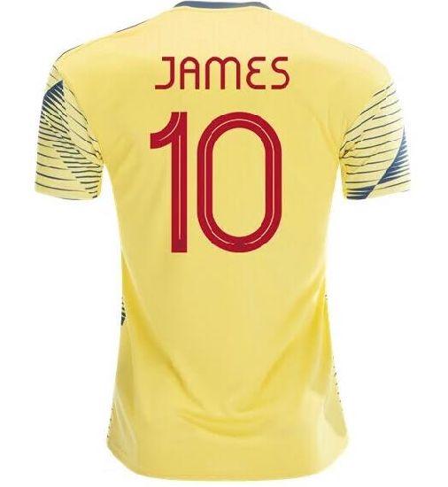 GWCASA Utilizado para Falcao No.9 James No.10 Rodr/íguez No.11 Cuadrado Colombia Uniforme de f/útbol Personalizado con Cualquier Nombre y n/úmero