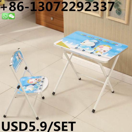 Mesa Plegable Para Estudiar.China Muebles Para Ninos Fram Metal Plegable Tipo Silla Y