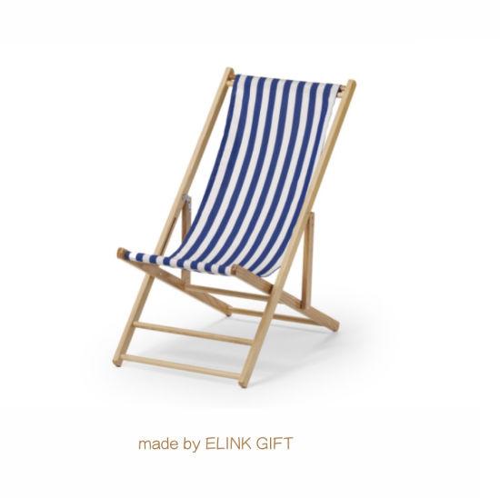 China Cubierta de madera silla de playa plegable de viaje de