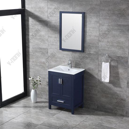 China Madera maciza moderno tocador y el lavabo para baño ...