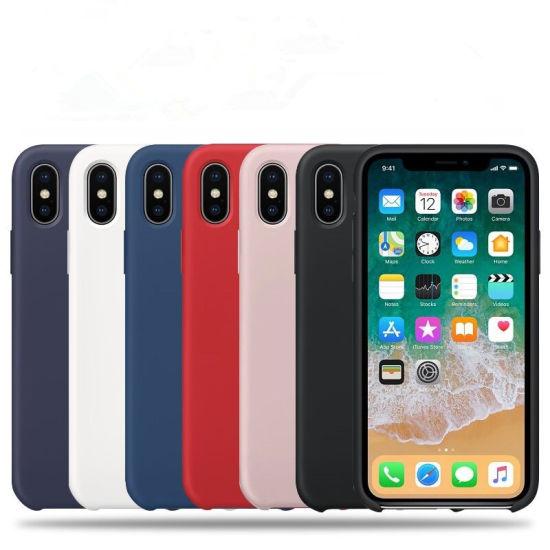 China Funda de silicona de colores de alta calidad iPhone original
