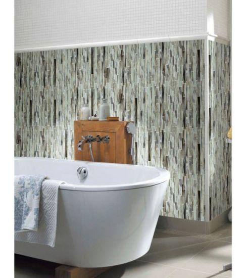 Badezimmer-und Küche-Wand-und Floo Fliese-Streifen-Glas-Mosaik