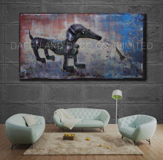 Chine Décoration De Mur De Métal Peinture D Huile D Art De