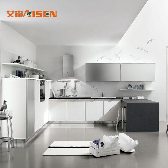 Cina Cucina Design Marble Top Cucina Moderna Cabinet In ...