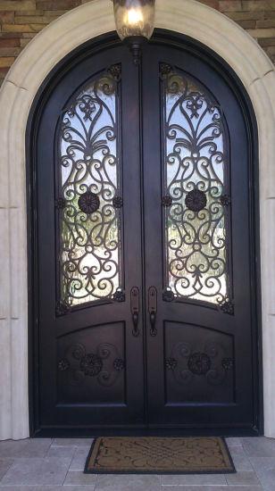 наружные защитные элементы стали двойной железной двери гриль безопасности стальные двери