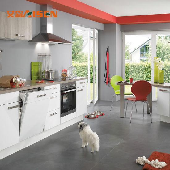 Couleur de Peinture murale Cuisine Cuisine moderne des armoires de cuisine  Un design simple