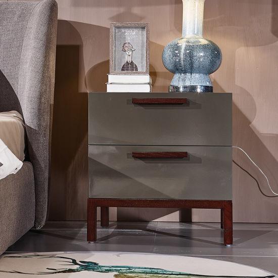 Chine Chambre à coucher en bout de table en bois moderne ...