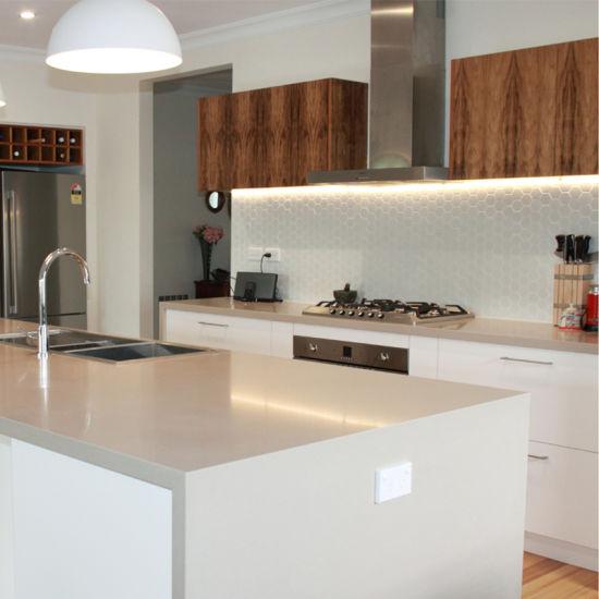 Prefabricados de mármol Artificial pre-ensamblado de alta gama de opciones  de gabinetes de cocina