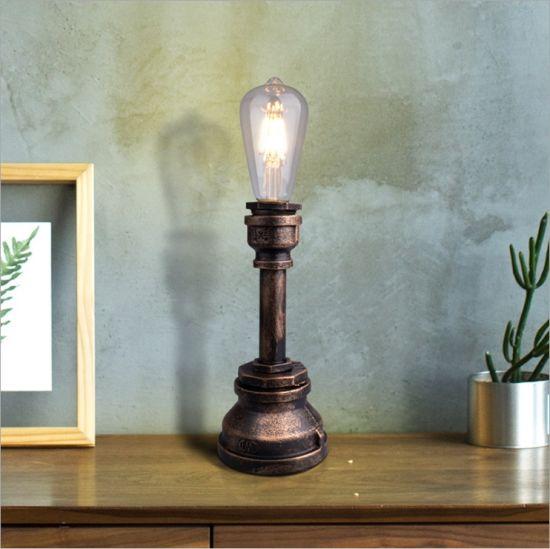 Vintage Tube de l'eau industrielle Lampes de table