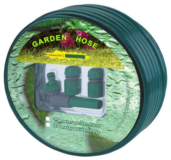 Montaje Tubo De Manguera De Jardín Carrete reforzado resistente al aire libre-Verde Nuevo 50 M