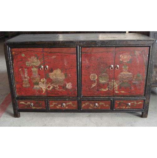 Armadietto Dell Altare.Sideboard Di Legno Antico Della Mongolia Della Mobilia Lwc201