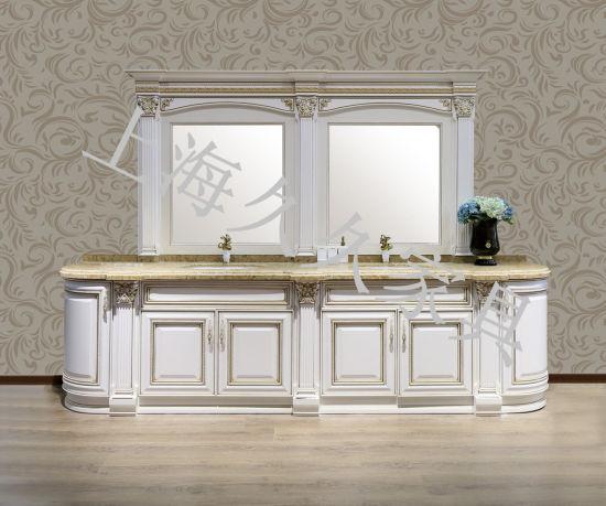 China Madera maciza cuarto de baño con espejo para las ...