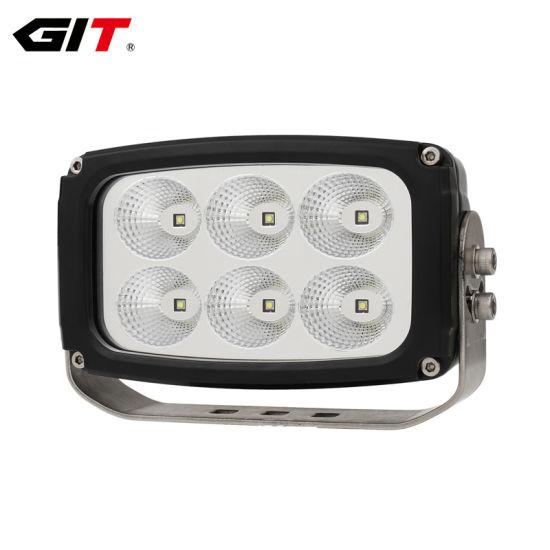 China Rectángulo de luz LED de trabajo de 6 pulgadas de