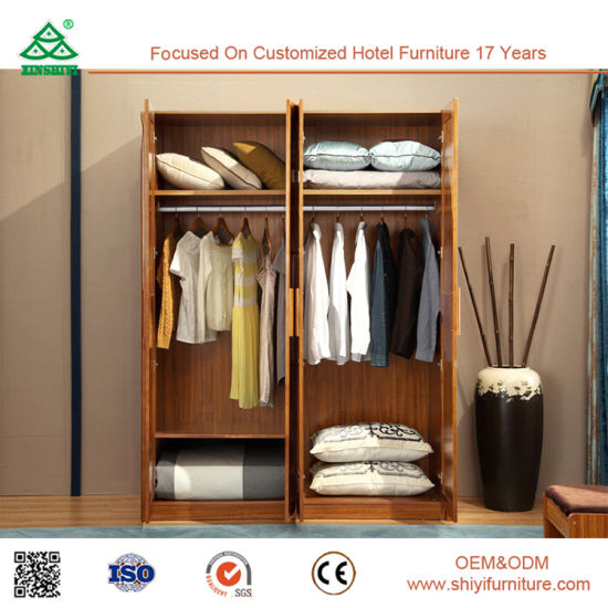 Chambre à coucher Mobilier de style européen classique Hot armoire en bois  massif de vente