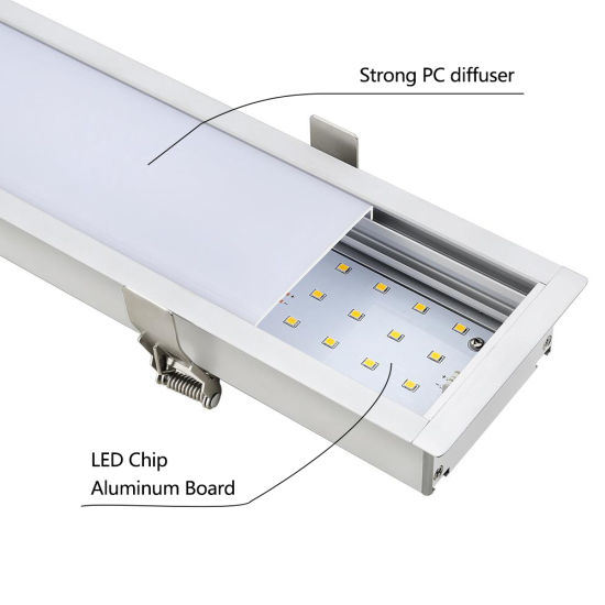 enrollable luz LED China lineal empotrada vinculables 40W wPXZlOTkui