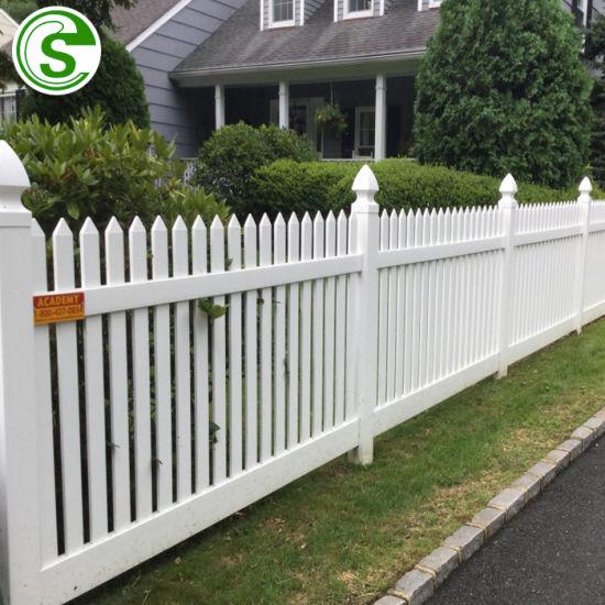 Clôture de jardin en plastique PVC blanc en vinyle de clôture PVC palissade  blanche