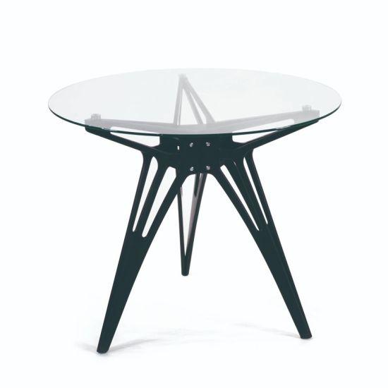 Nuevo estilo de mesa redonda de vidrio para el café y té