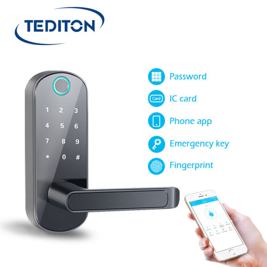 Digital Electronic Code Door Lock APP Fingerprint Touchscreen Keyless Smart Lock