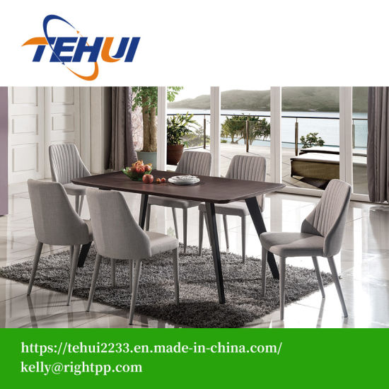 China Mesa De Comedor madera vidrio Set Inicio Muebles de ...