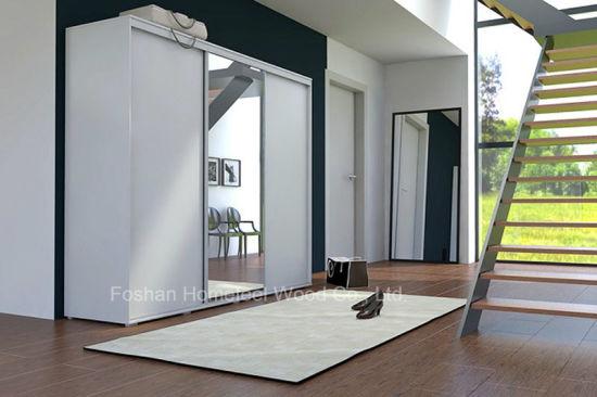 Armadio A Muro Design.Cina Popolare Armadio A Muro Con Specchio Bianco Hf Ey062