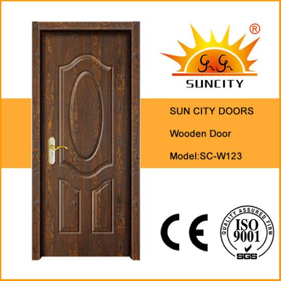 Modèle intérieur de luxe de porte de chambre à coucher en bois solide  (SC-W123)
