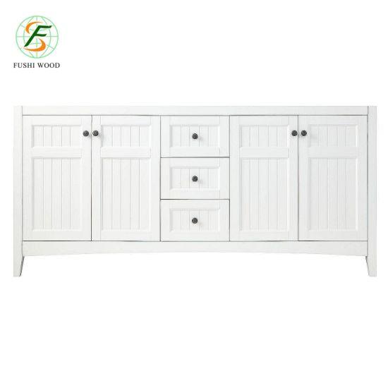 Amazon 2019 Blanc Des Armoires De Salle De Bains Haut De Gamme En Bois Massif Lavabo Manufacte De Shandong