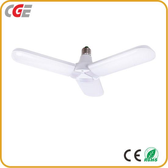 China Las aspas del ventilador plegable E27 bombilla LED