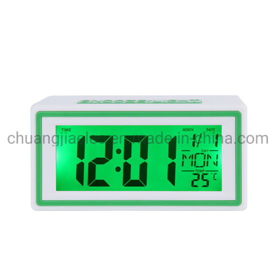 Horloges de projection R/éveil Num/érique LED R/éveil Num/érique Horloges de Affichage de lheure de la temp/érature et du r/étro/éclairage de la semaine de la date