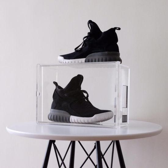 Vitrine acrylique transparent en acrylique boîte à chaussures Chaussures de plexiglas Sneaker Box