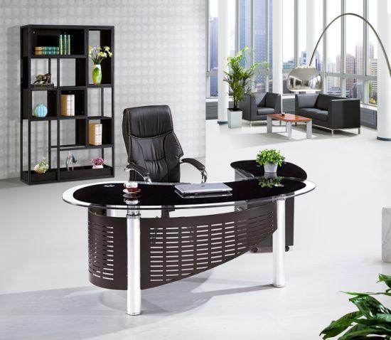 Mesa ejecutiva de la tabla de la Oficina de vidrio Nuevo diseño moderno de  la Oficina Muebles de oficina 2019 de cristal templado de escritorio de ...