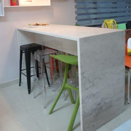 Chine Modele De Texture Personnalisee Surface Solide Tables De Bar Acheter Corian Bar Bar Table Sur Fr Made In China Com