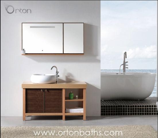 Le Chêne rouge salle de bains en bois de noyer Armoire avec miroir de  courtoisie le Cabinet