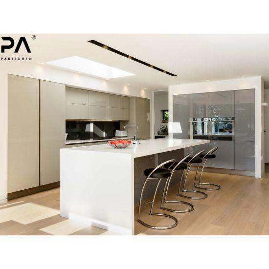 PA Cocina prefabricados derribar un estilo contemporáneo diseño exclusivo  de Laca UV modernos modulares Muebles de Cocina