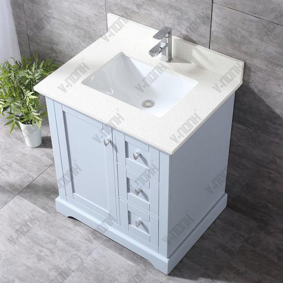 Chine Nouvelle salle de bains moderne gris vanité, armoire ...