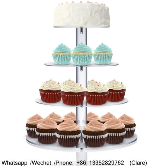 3 niveau coupe gâteau acrylique clair muffin mariage display stand